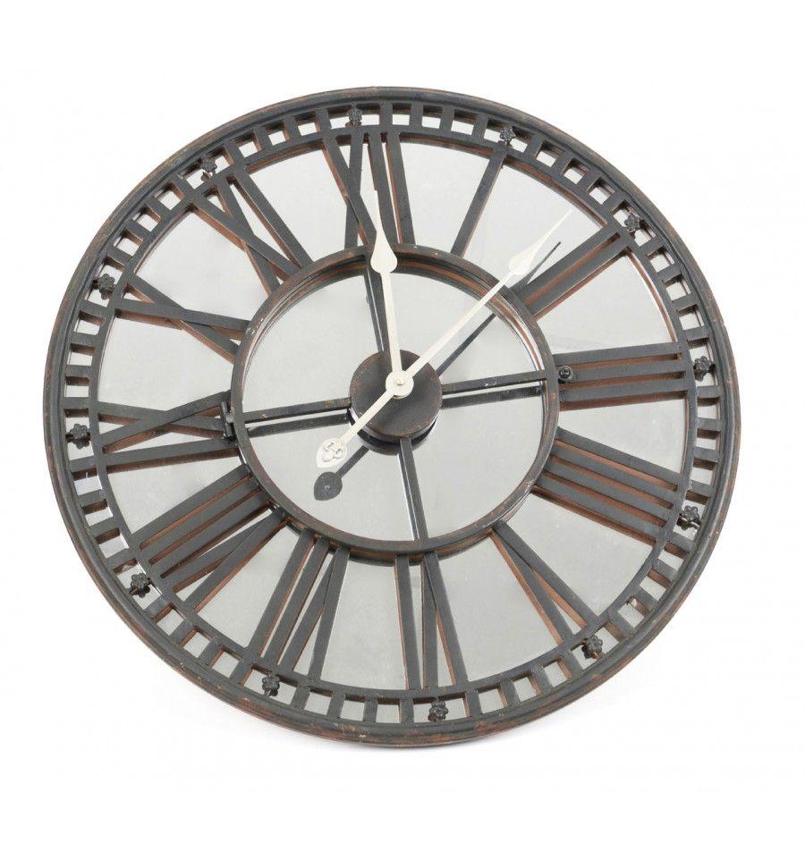 Reloj pared espejo gigante industrial metal kamir - Reloj gigante pared ...