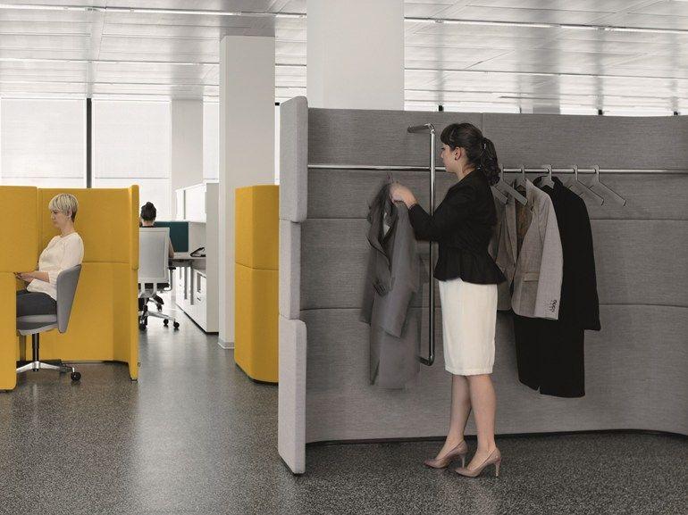office coat hanger. coat rack / workstation screen docklands by bene design pearsonlloyd office hanger c