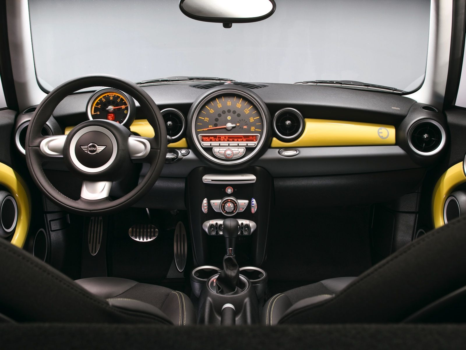 Love The Yellow Interior Mini Cooper S