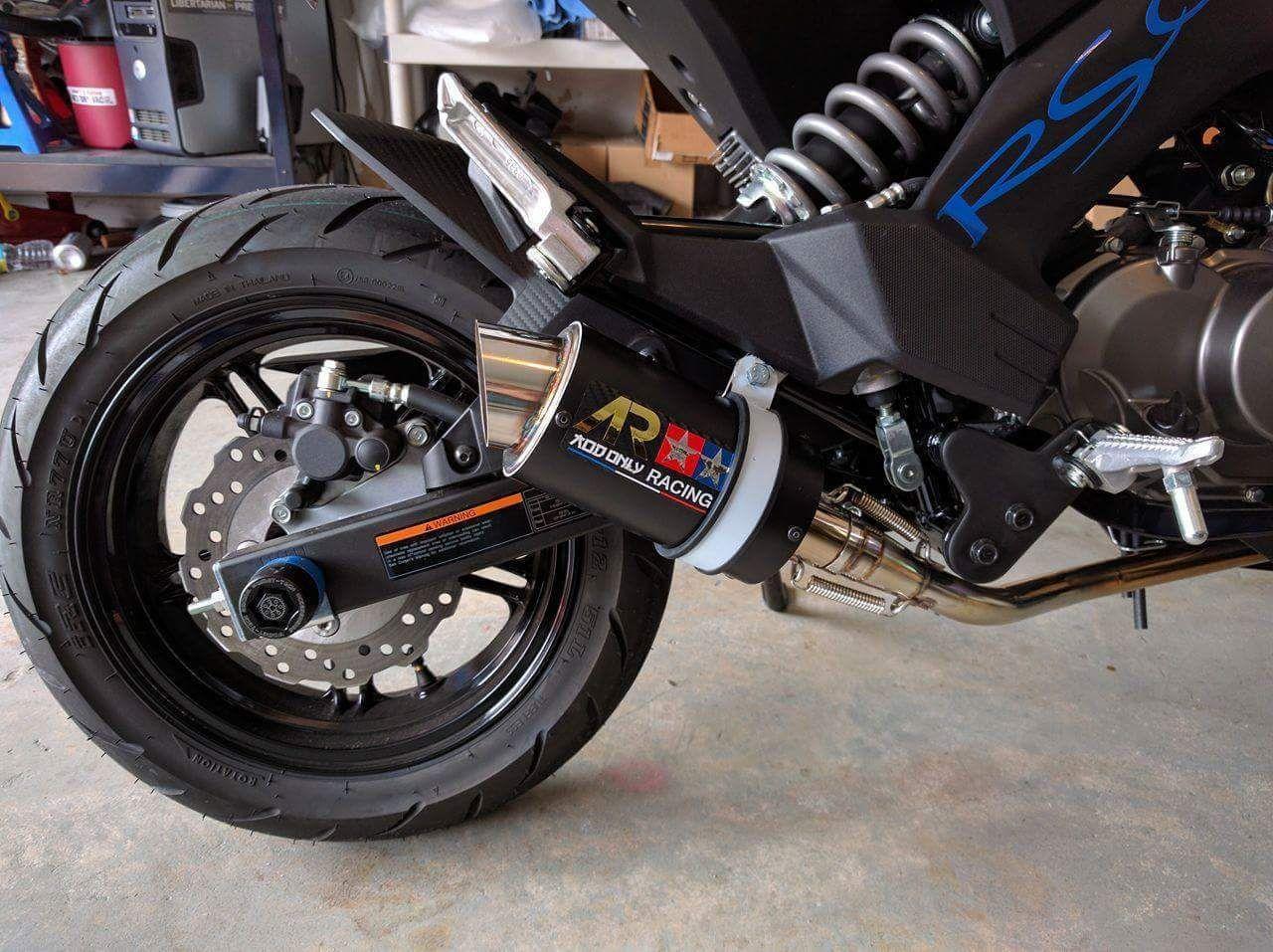 Kawasaki Z125 Pro z125 pro 2017 AR Low Mount Exhaust Full