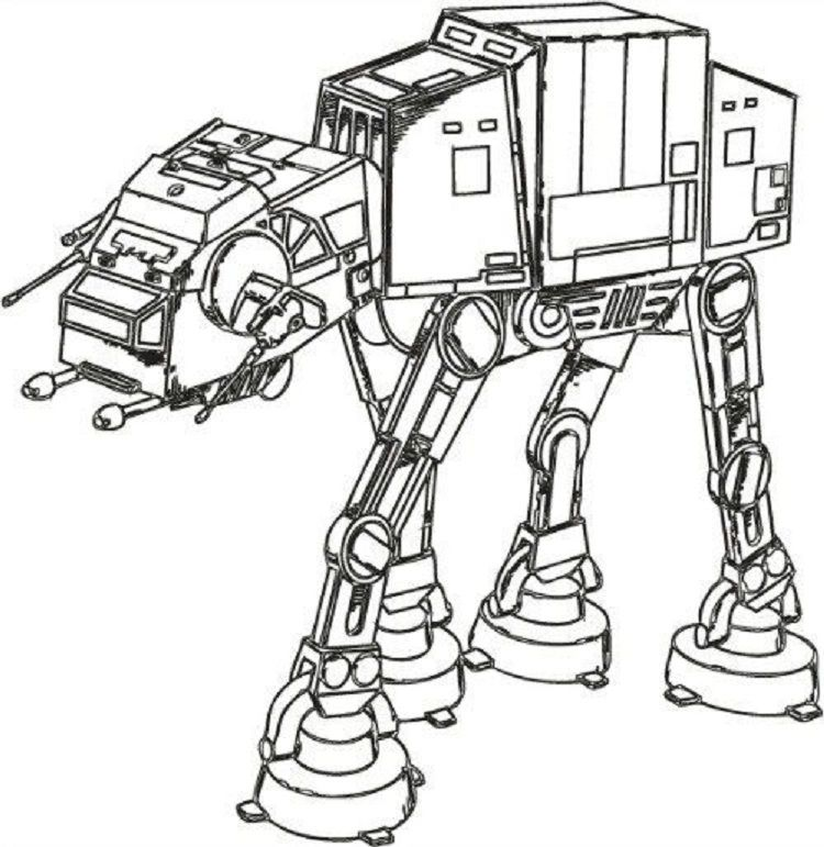 Star Wars Imperial Walker Coloring Pages Star Wars Coloring Book