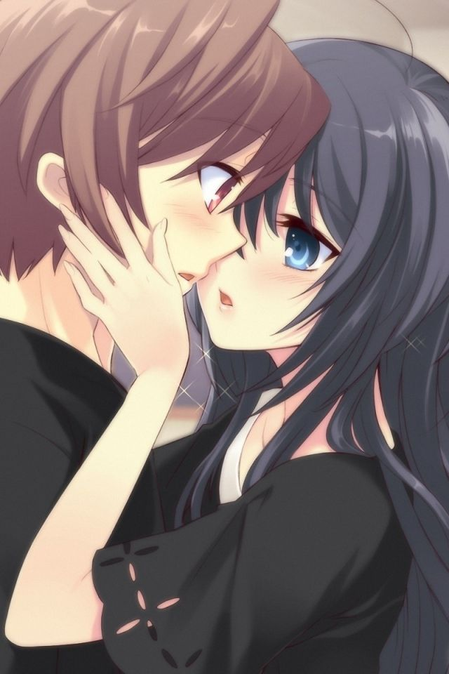 Anime 1080x1920 Couple Kiss Cute Couples Manga Wallpaper