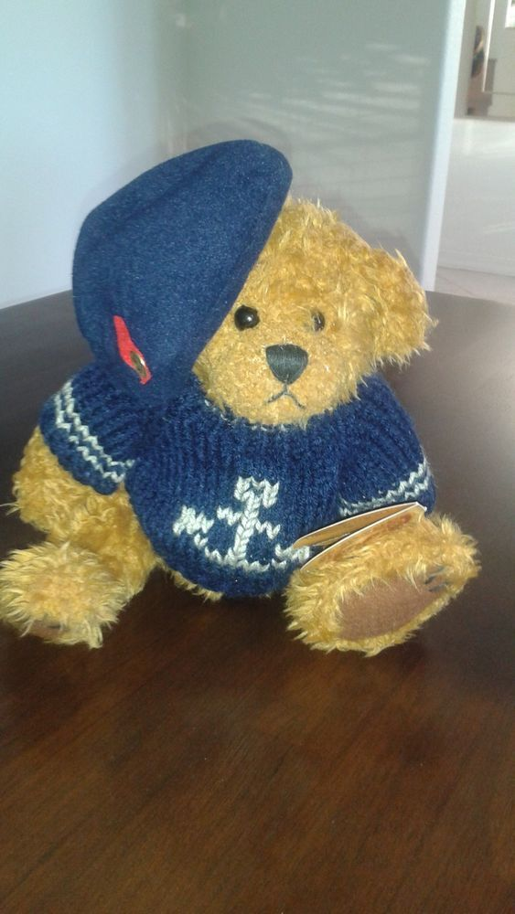 """Brass Button Collectables Plush Animals 10"""" 1997 """"TANGO"""" BEAR Gently Used #PickfordBears"""