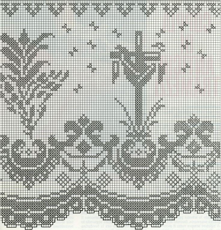 Lily altar filet crochet - Buscar con Google   Crochet Religioso ...