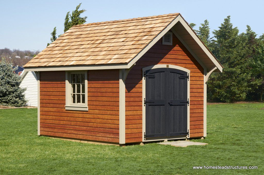 10 X 12 Mahogany Stain Lp Lap Siding Garden Shed Shed Garden Storage