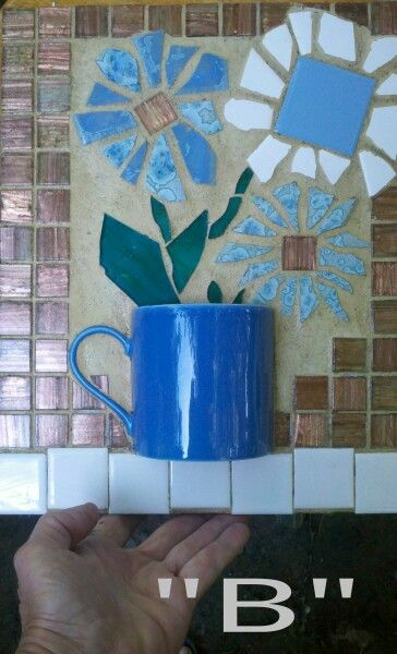 Teacup Coffee Cup Coffee Mug Mosaic FOR SALE From Recycled - Broken ceramic tiles for sale