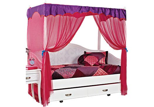 Belle Noir White 4 Pc Canopy Daybed House Decor Inspiration