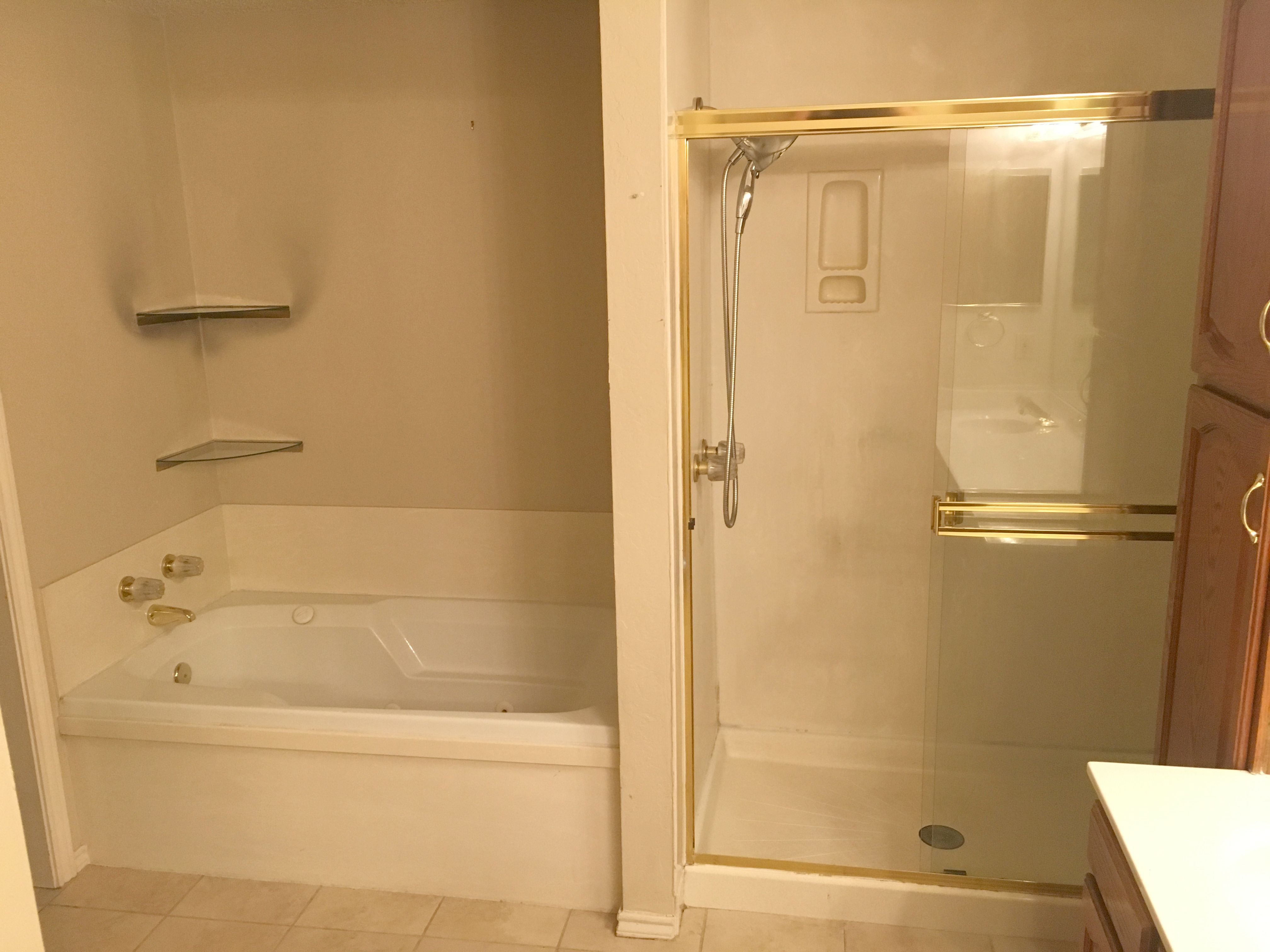 Bathroom Renovation Example. From Bad 80u0027s To Bright And Modern. Bathroom  Transformation To White