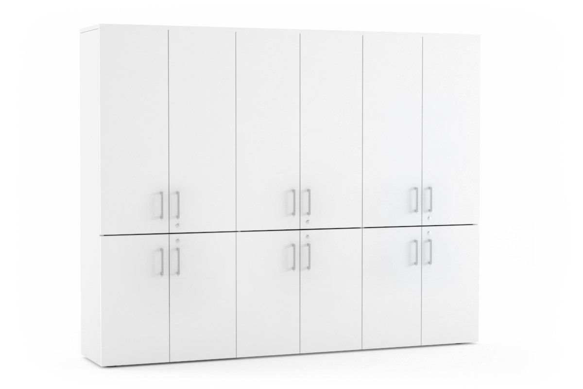 Uniform 12 Door Large Storage Cupboard With Small Medium Doors Silver Handle Large Storage Cupboards Cupboard Storage Storage