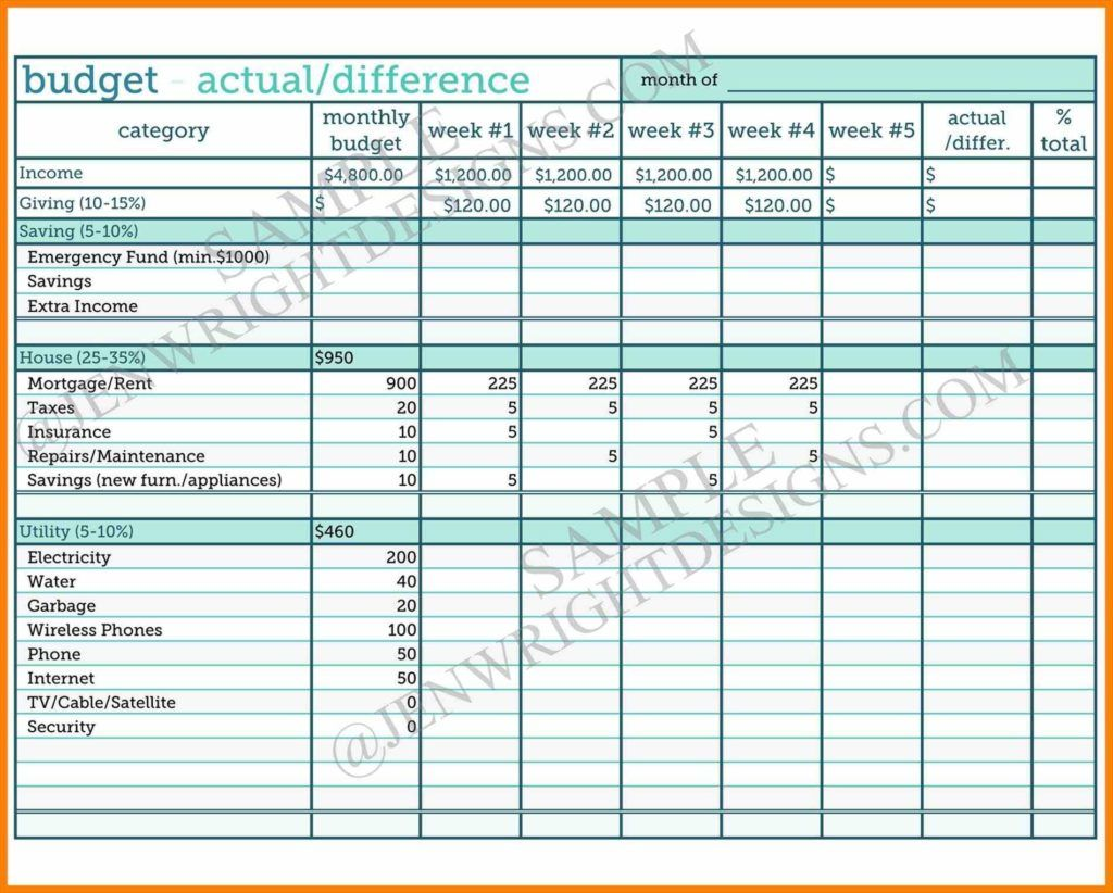 Expenses Sheet Template Monthly Budget Template Budgeting Worksheets Budgeting
