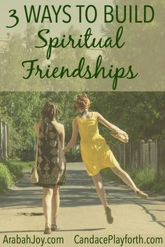 Building spiritual friendships can be such a blessing in our lives. Women need these important bonds where we can truly be ourselves and grow together in life and faith. Check out these 3 awesome ways to find and nurture Christian friendships!