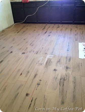 Corn in My Coffee Pot: :: The New Paper-flooring-Pt.2 DIY