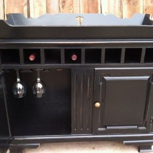 dry sink converted to bar refinishing
