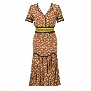 Jambo Dress yellow leaves