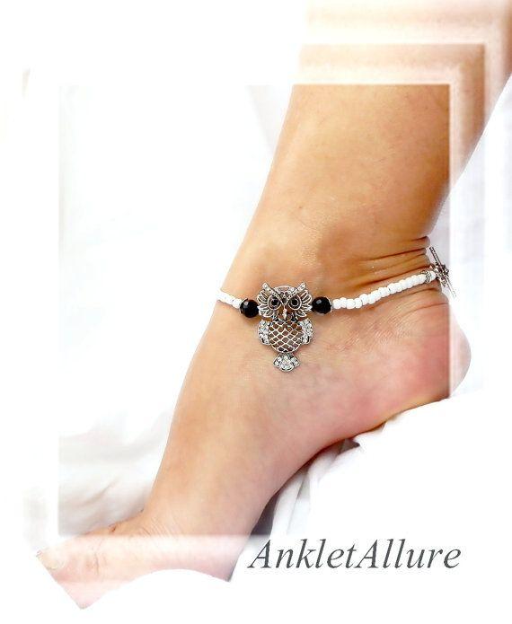Anklet Owl Ankle Bracelet Black Waterproof Anklets For Women
