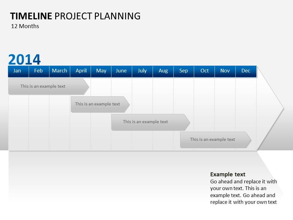 Powerpoint Template Timeline Project Planning At SlideshopCom