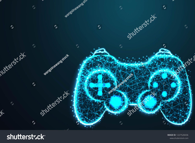 Game pad icon. Joy pad. Joy stick , with crumbled edge on