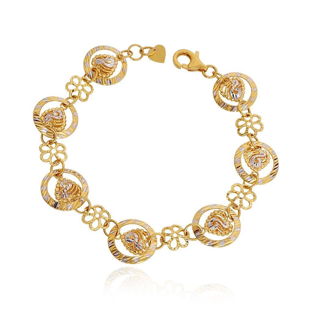 Fancy Gold Bracelet For Who Admit In Love Light Weight Jewellery