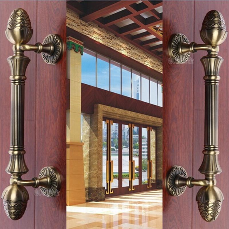 93.10$  Watch now - 400mm high quality bronze wood door handles pulls  zinc alloy  glass door pulls home ,KTV  office hotel wood door handles  #buychinaproducts