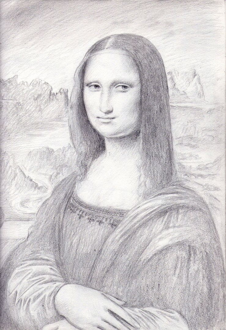 Mona Lisa Sketch By Dashinvaine On Deviantart Portrait Drawing Mona Lisa Mona Lisa Drawing