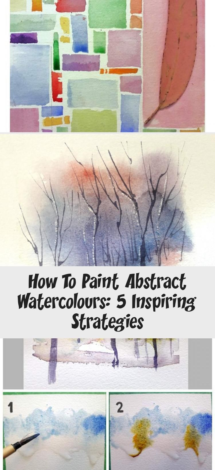 Abstract Watercolor Painting Tutorial In This Blo In 2020