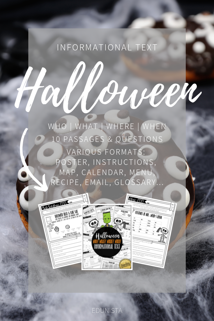 Informational Text Who What Where When Has 10 Short Nonfiction Passages In Various Fo Informational Text Halloween Reading Comprehension Reading Comprehension [ 1102 x 735 Pixel ]