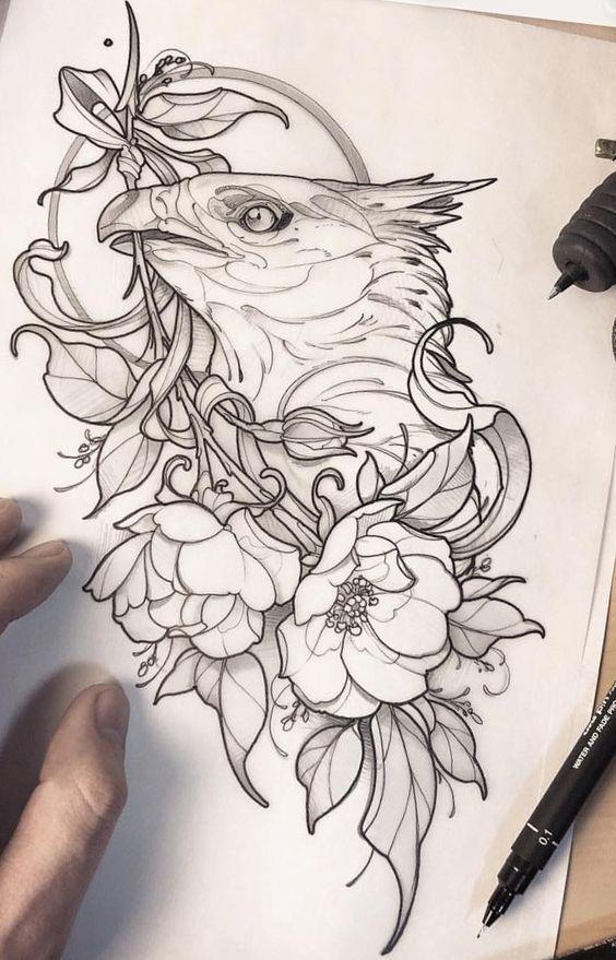 Эскиз тату орел | Блог про татуировки pavuk.ink