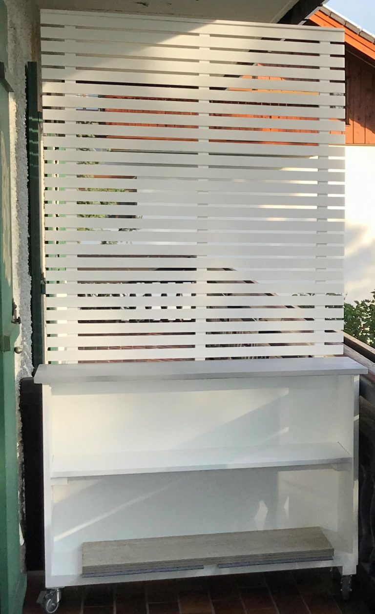 DIY: Mobiles Pflanzregal mit Sichtschutz selber bauen – Chalet8
