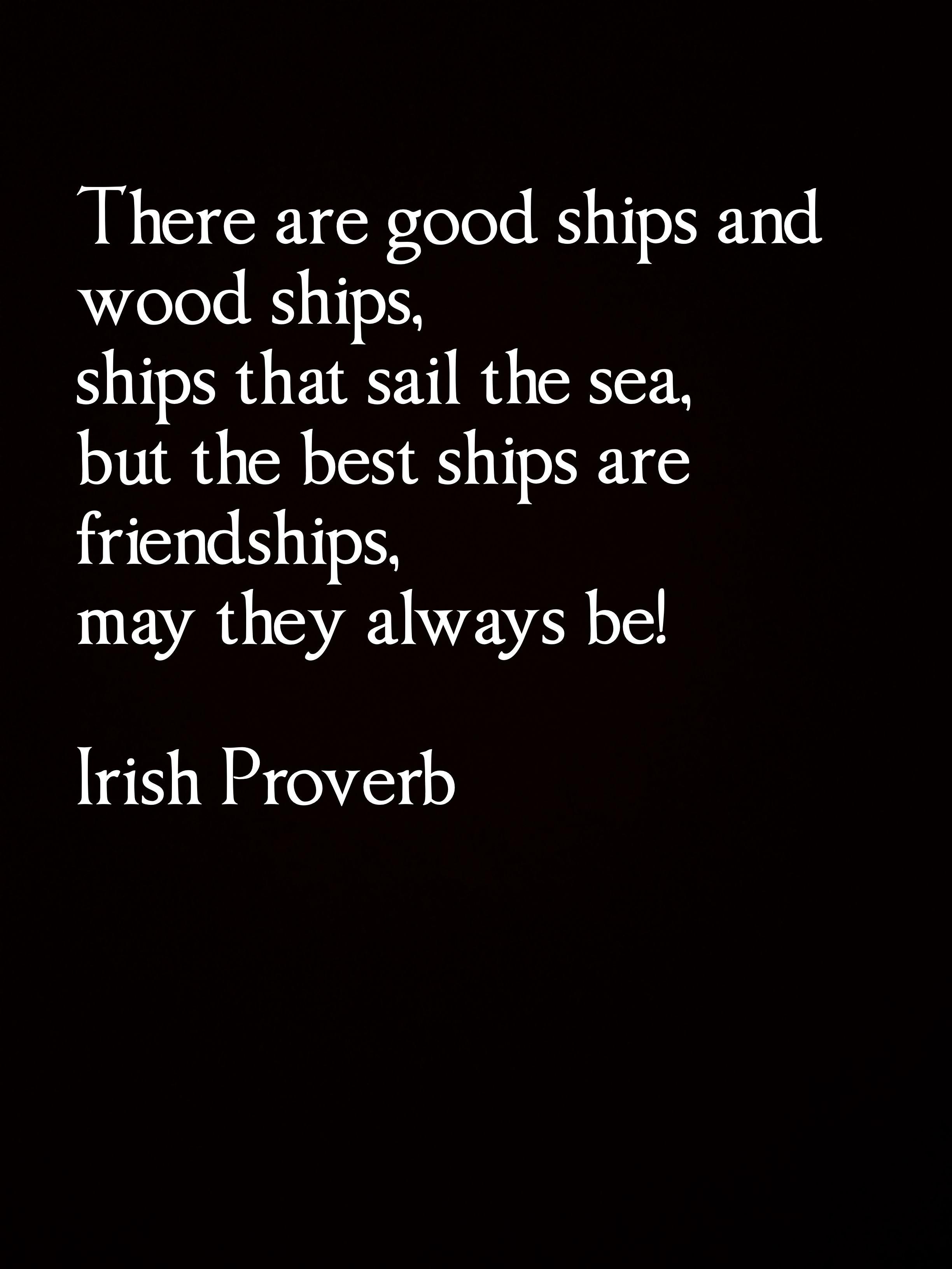 Irish Friendship Proverb