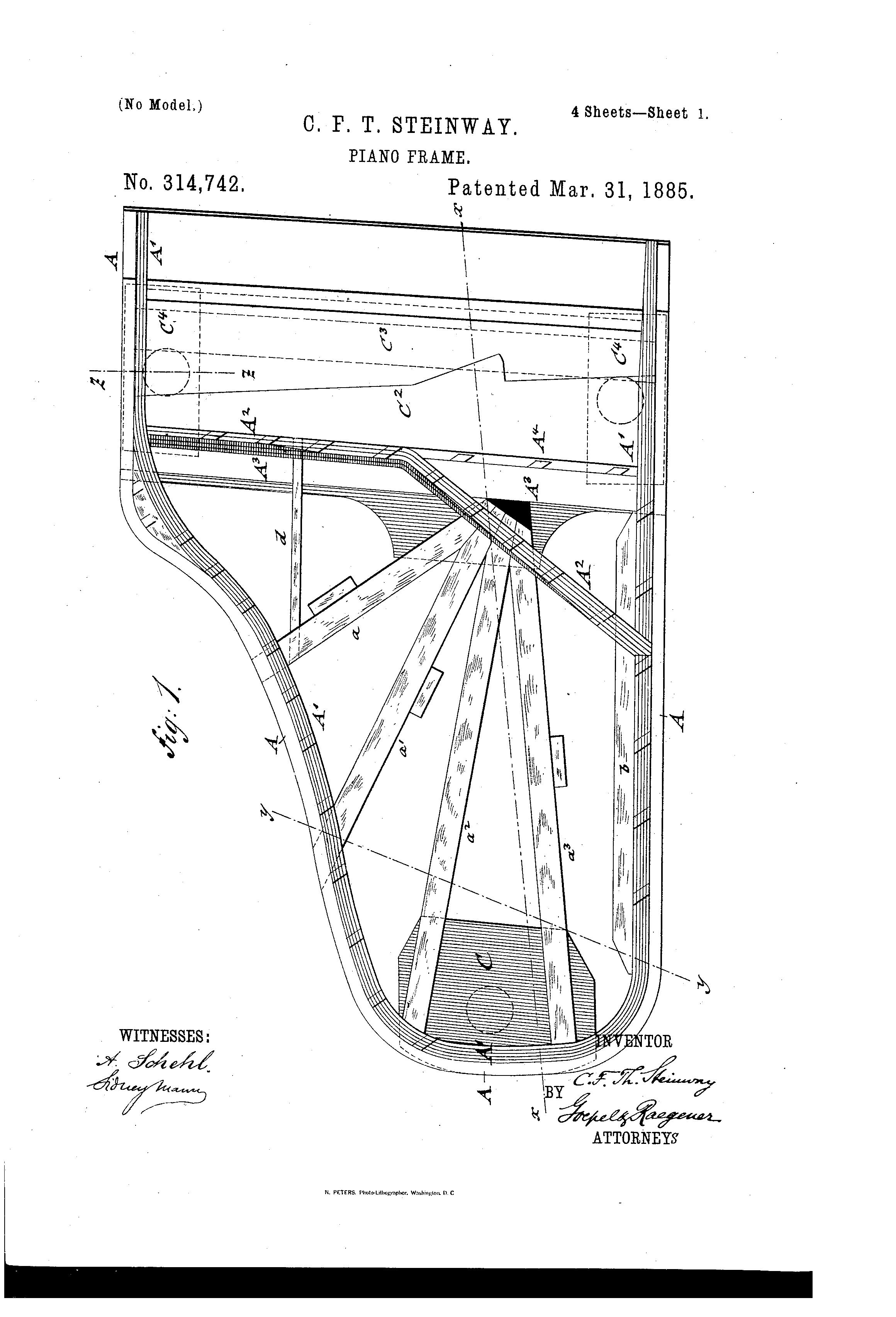 Piano Blueprint Steinwaty