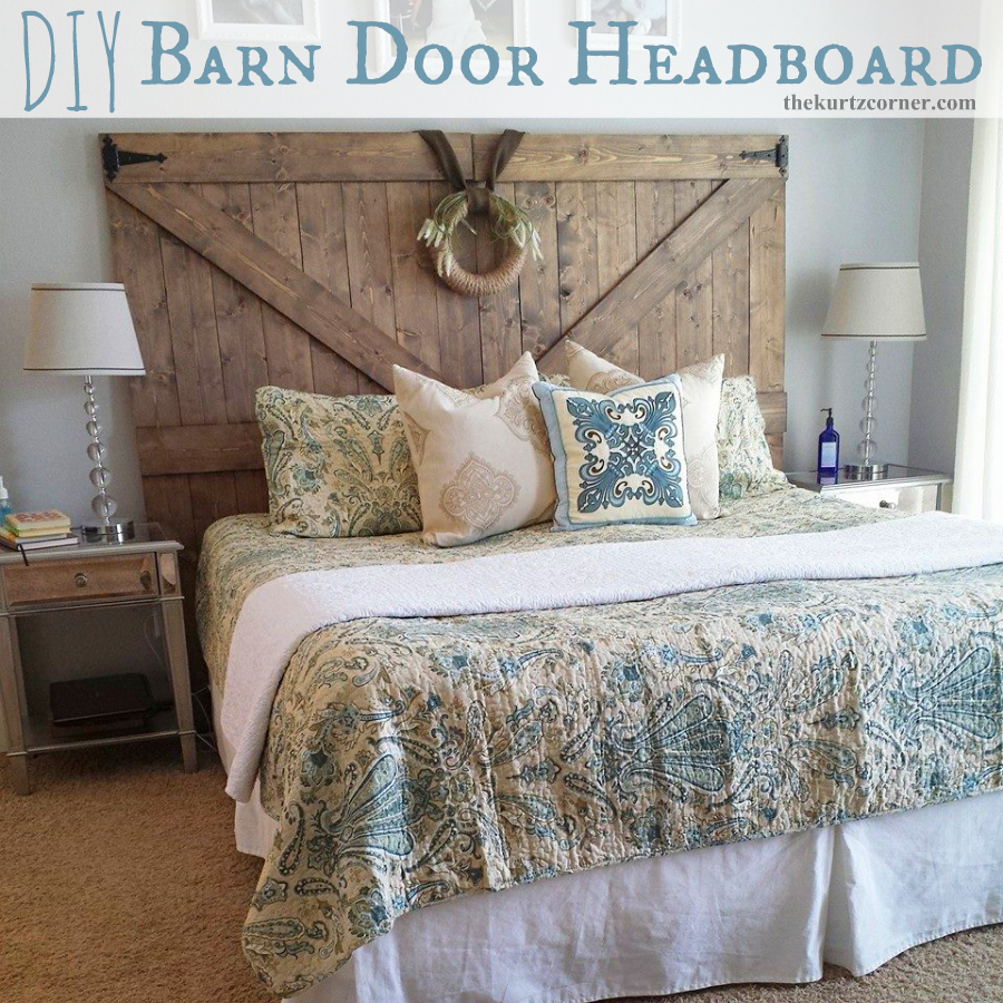 The Kurtz Corner Diy Barn Door Headboard Barndoor Headboard