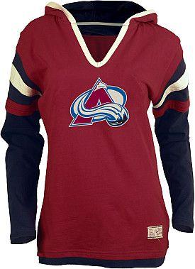 Old Time Hockey Colorado Avalanche Women s Marte Fooler Hood T-Shirt - Shop. NHL.com e733b5f5a21