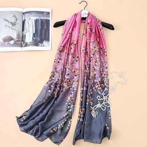 c0fedb17d5 180cm*90cm 2017 New Fashion Brand Design Bubbles Gradient Color Printed  Long Silk Scarf Big Shawl Women Scarves Hijabs SK054