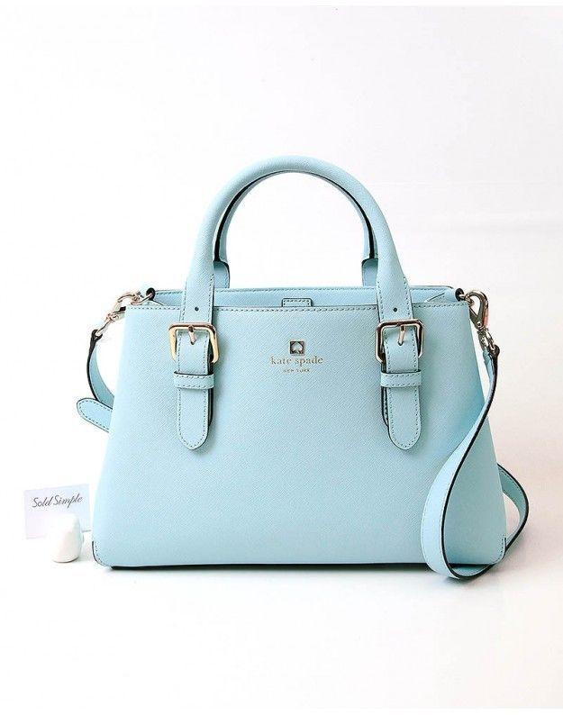 120 Kate Spade Ny Cove Street Provence Hydrangea Blue Leather Handbag Katespadenewyork Opentopentry