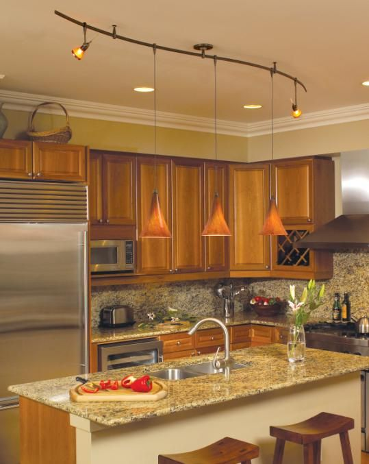 Monorail Lighting System In A Kitchen Environment Home Sweet - Track lighting over island