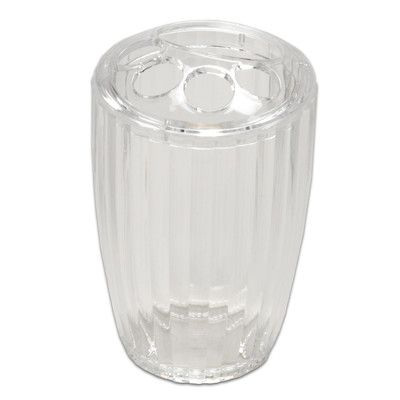 Sweet Home Collection Ribbed Acrylic Toothbrush Holder Color: Clear
