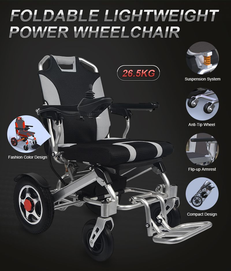 low priced ebde9 2a707 YATTLL lightweight power wheelchair