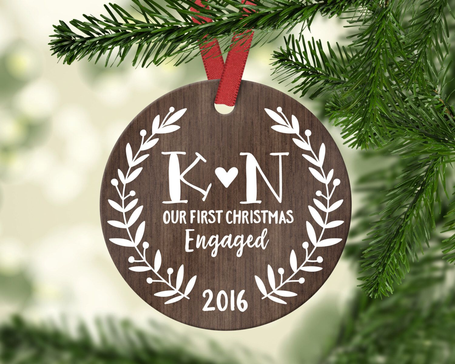 Engagement Couple Gift Engagement Ornament First Christmas Etsy First Christmas Together Ornament Monogrammed Christmas Ornaments Grandpa Christmas Ornament
