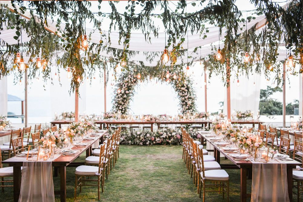 This Thailand Wedding Has Us Falling In Love With Floral Arbors All Over Again In 2020 Thailand Wedding Wedding Themes Wedding