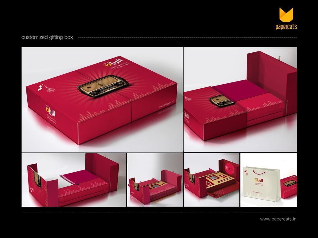 PACKAGING CUSTOMIZED GIFT BOX FOR AL RAYYAN RADIO, DOHA, QATAR