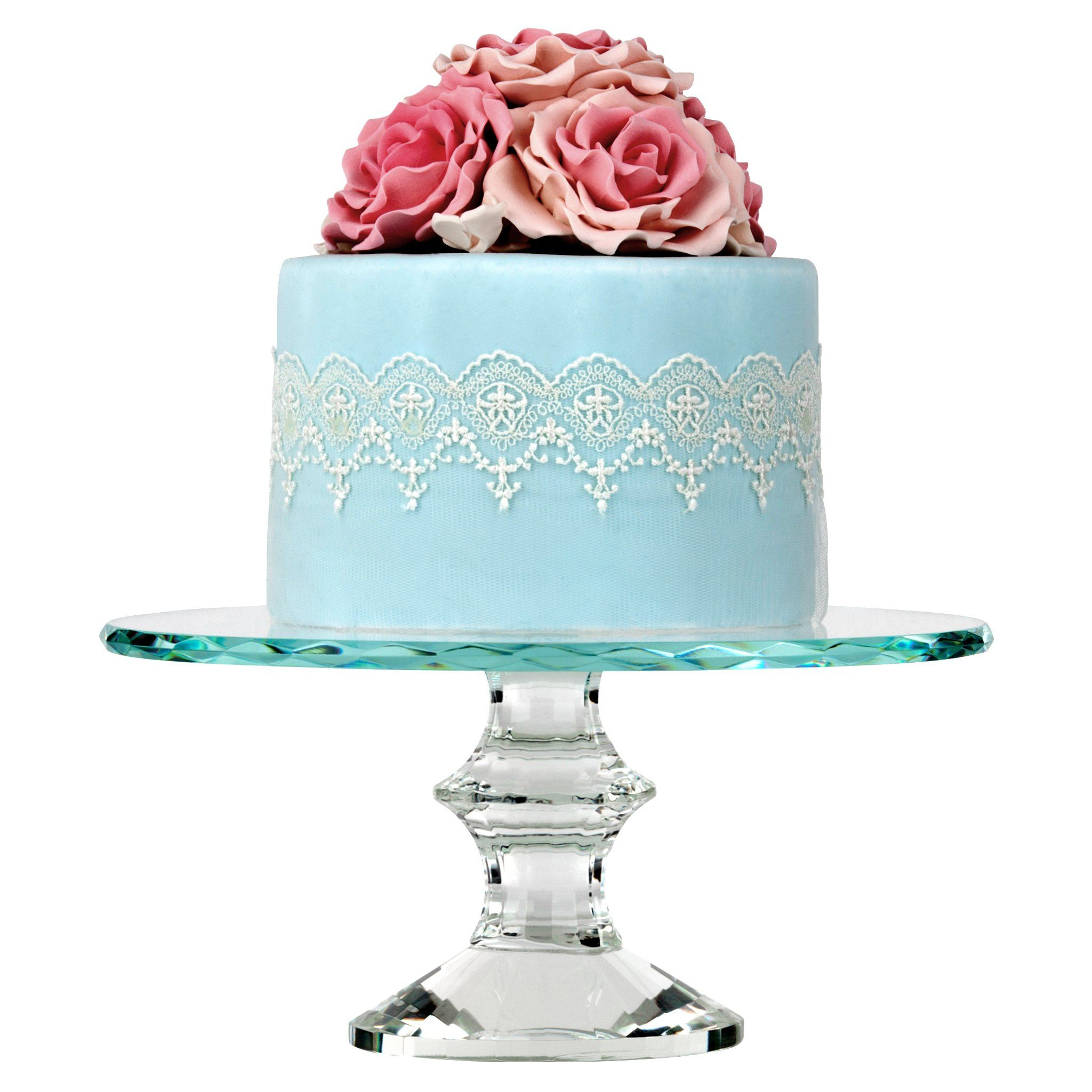 inch solid crystal cake stand summer wedding pinterest cake