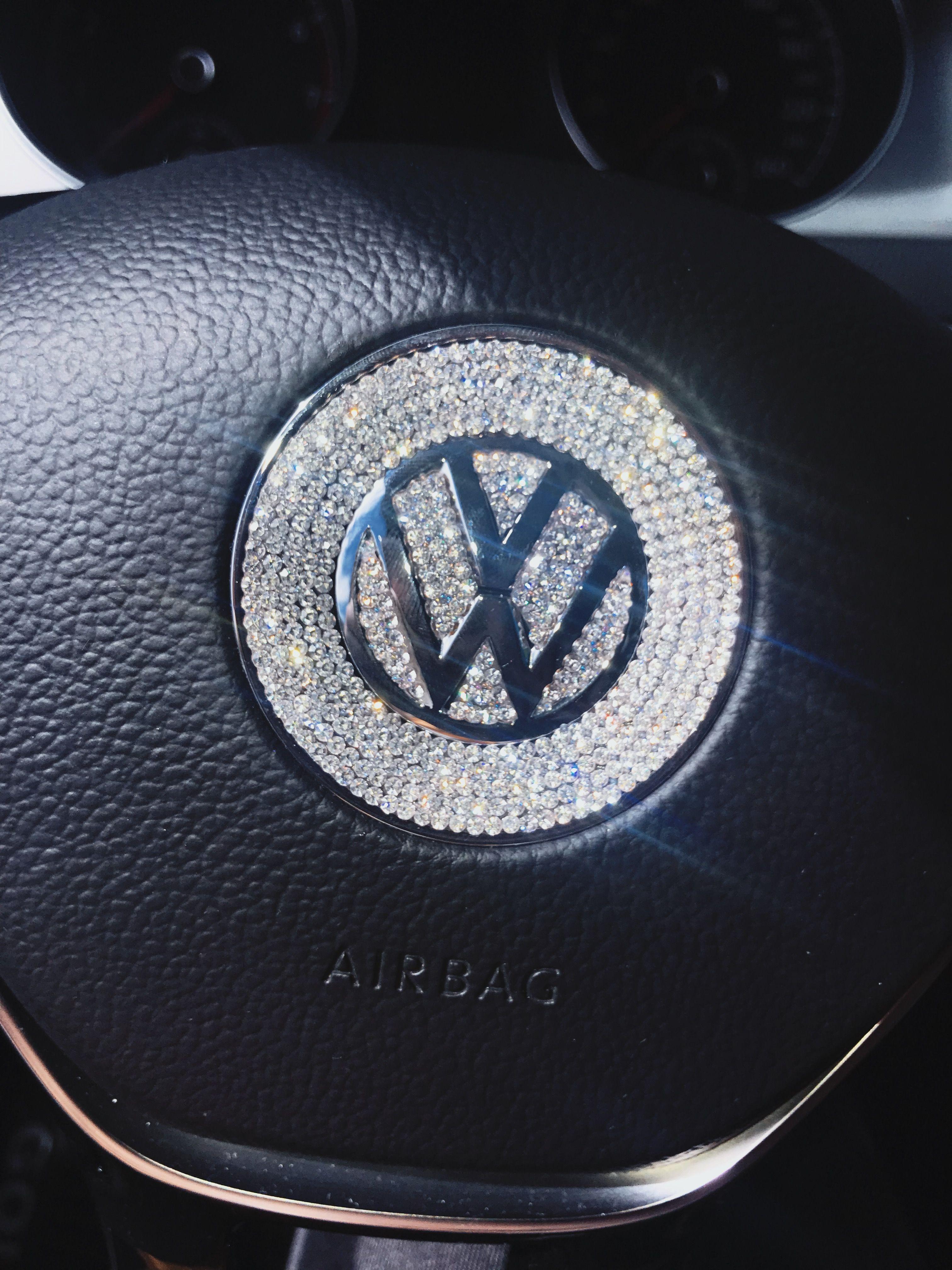 Bling Vw Volkswagen Emblem For Steering Wheel Logo Sticker Decal Beetle Wheel Logo Volkswagen Logos [ 4032 x 3024 Pixel ]