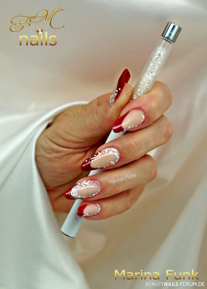 Linke Mit Willa Nails Gelnägel Rot Mit Willa Nails Nailart