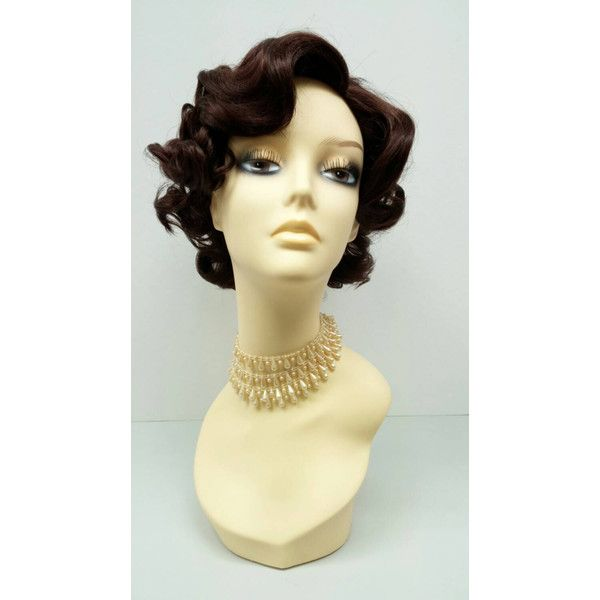 50u0027S Style Short Chestnut Brown Costume Wig Cosplay Wig... ($40) ?  sc 1 st  Pinterest & 50u0027S Style Short Chestnut Brown Costume Wig Cosplay Wig... ($40 ...