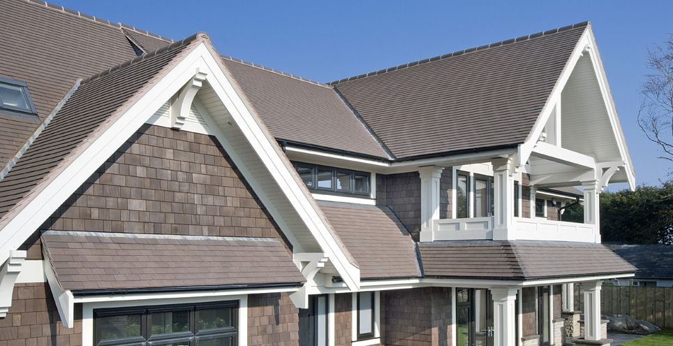 Acme Grey Sandfaced Specified For Canadian Build Exterior Design House Roof Roof Tiles