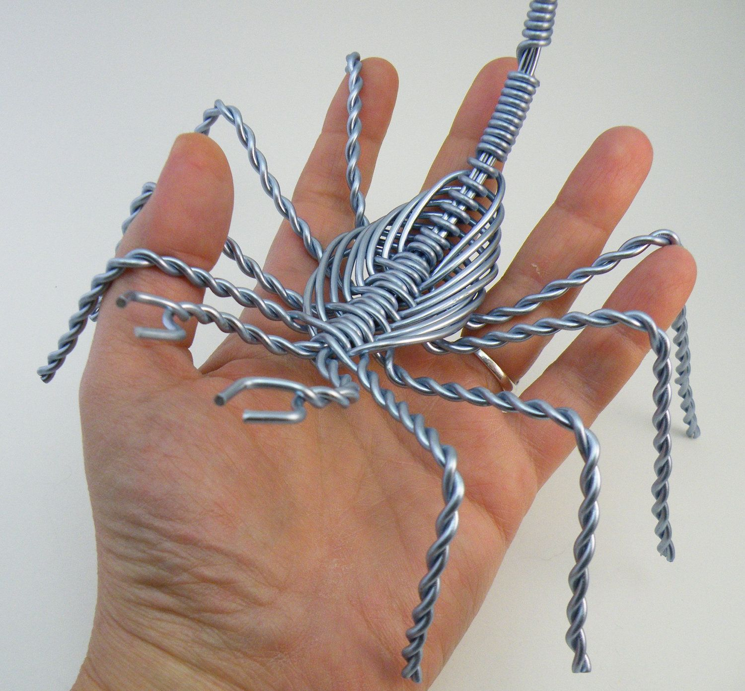 Scorpion Wire Sculpture - Large - Steel Blue - Approx 6\