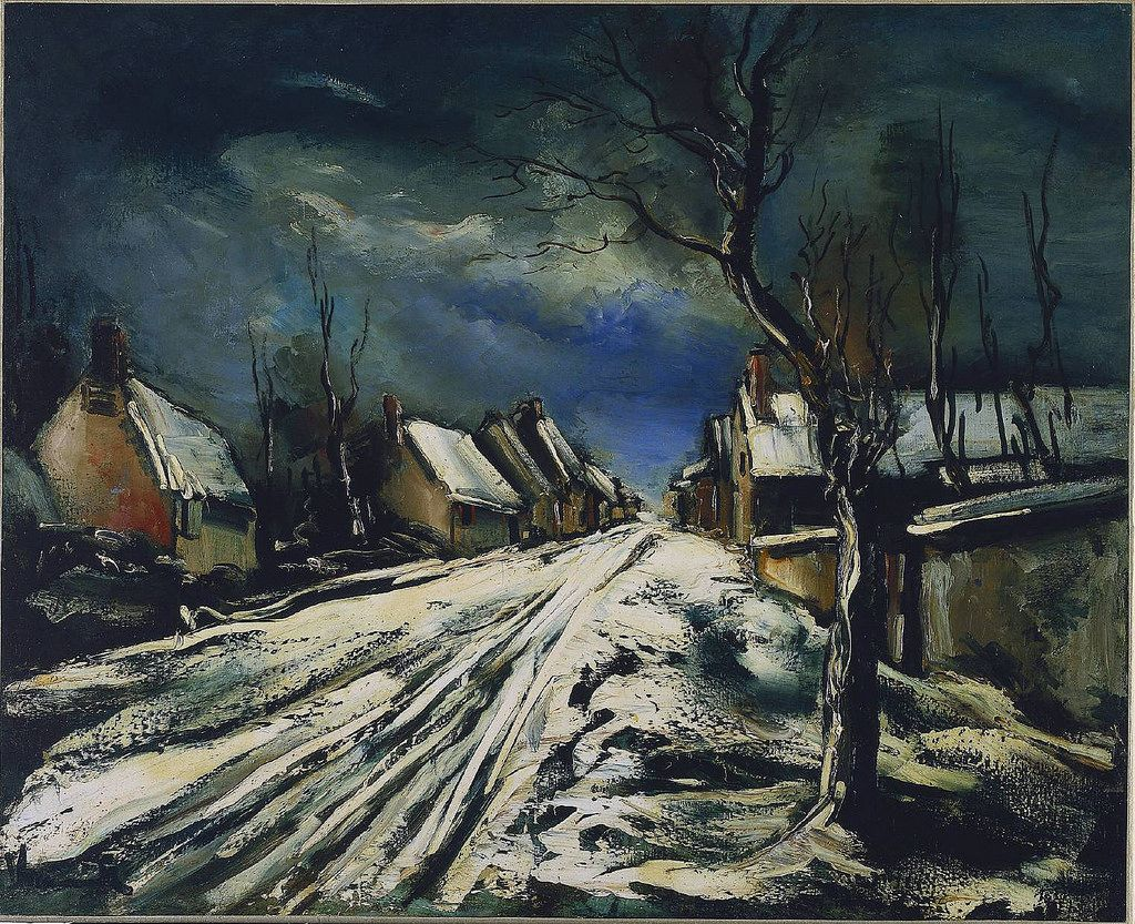 village in the snow 1927 paintings