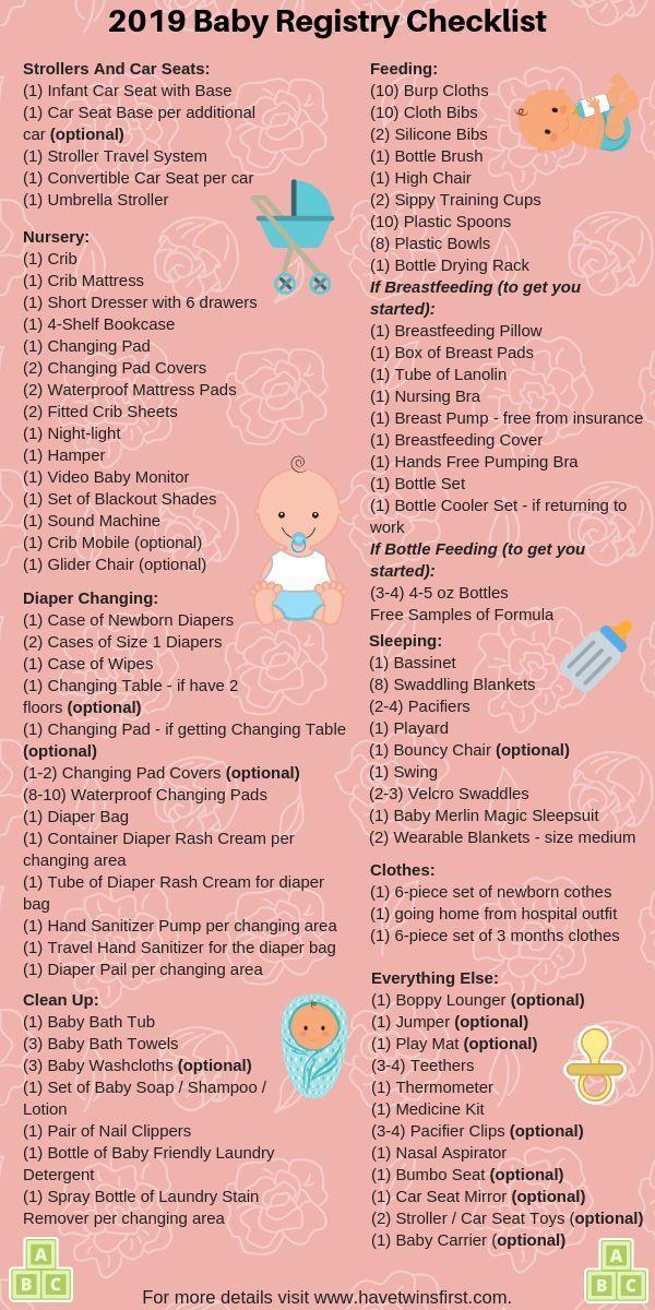 Baby Registry Checklist 2019 #baby register #checklist,  - Babyparty-Checkliste - #Baby #BabypartyCh...