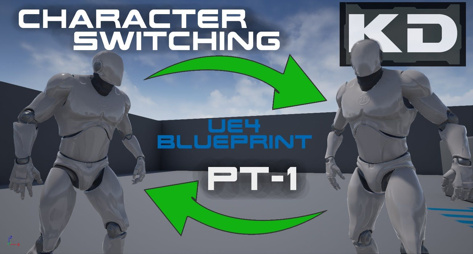 UE4 Blueprint Character Switching - Introduction and Scene
