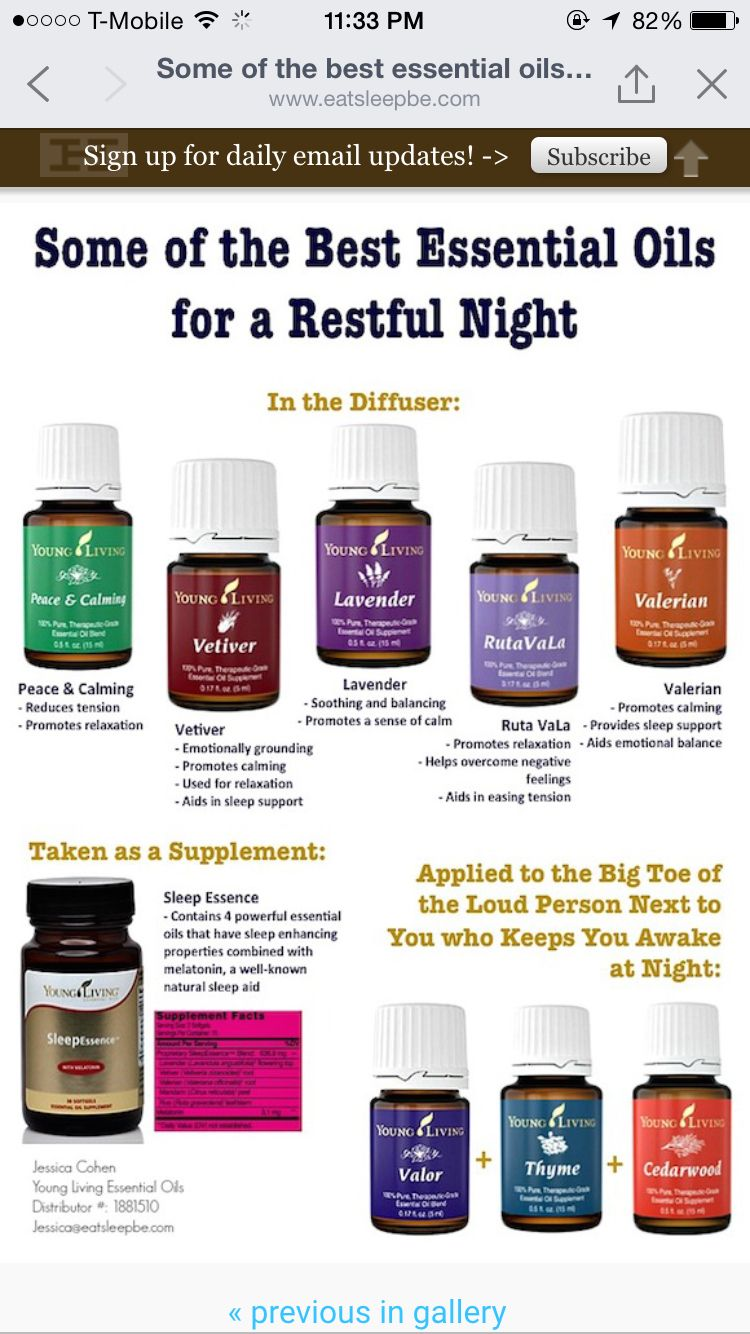 oils for a good nights sleep | young living essential oil